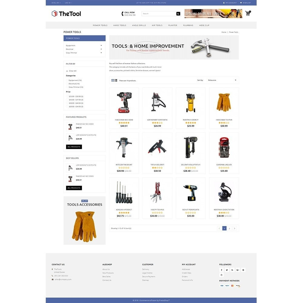 theme - Automotive & Cars - TheTools Store - 3