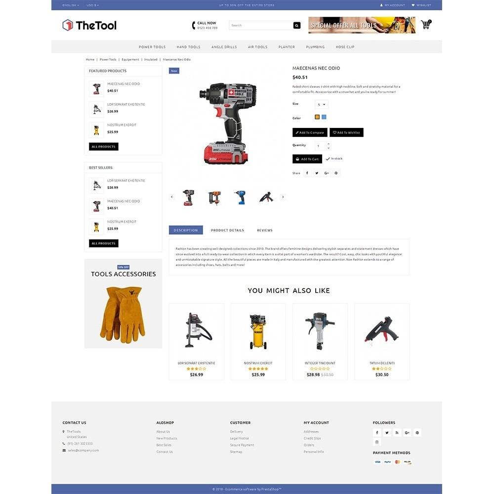 theme - Coches y Motos - TheTools Store - 5