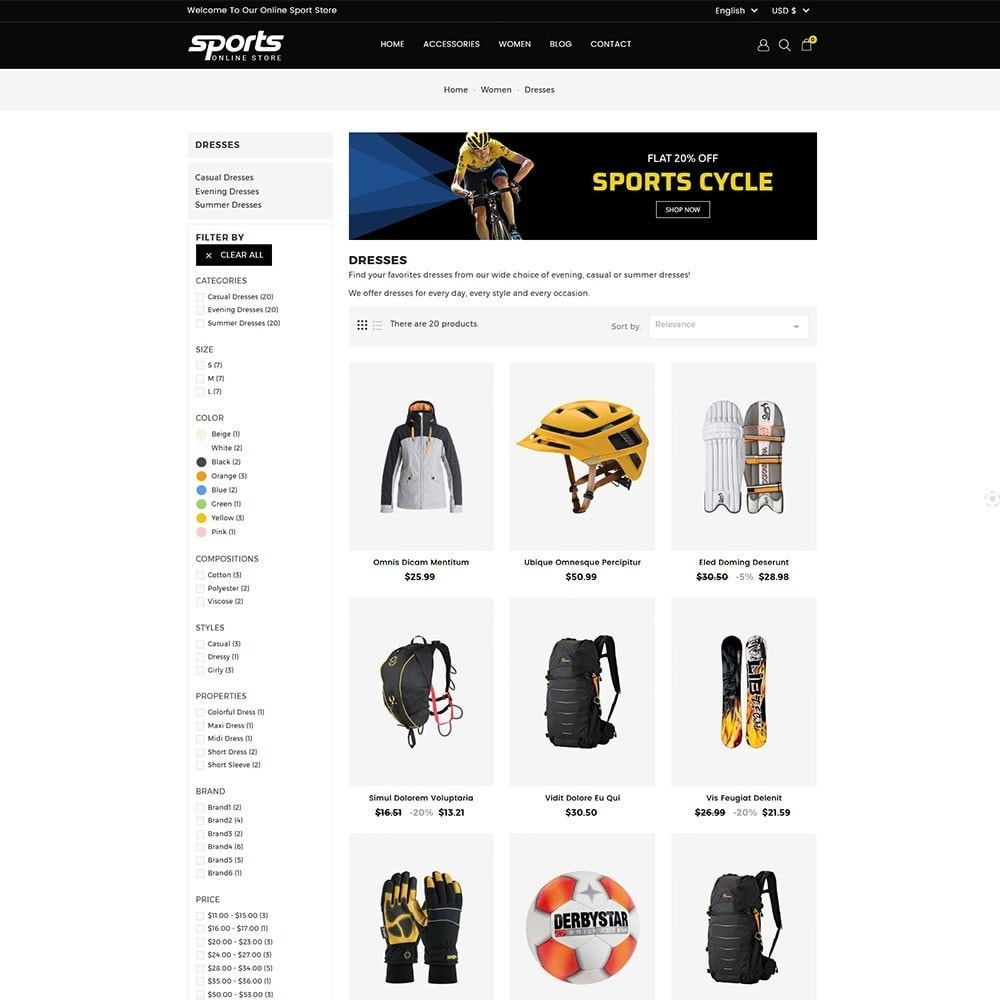 theme - Sports, Activities & Travel - Sports Store - 4