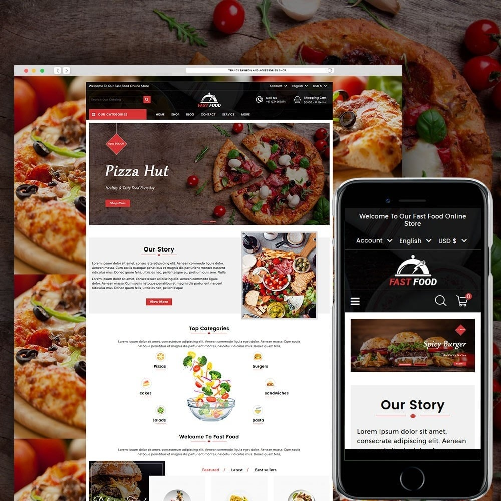 theme - Eten & Restaurant - Fast Food Store - 1