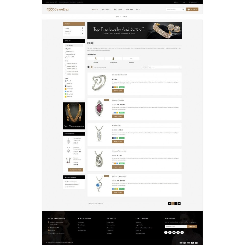 theme - Bellezza & Gioielli - Jeweller Store - 4