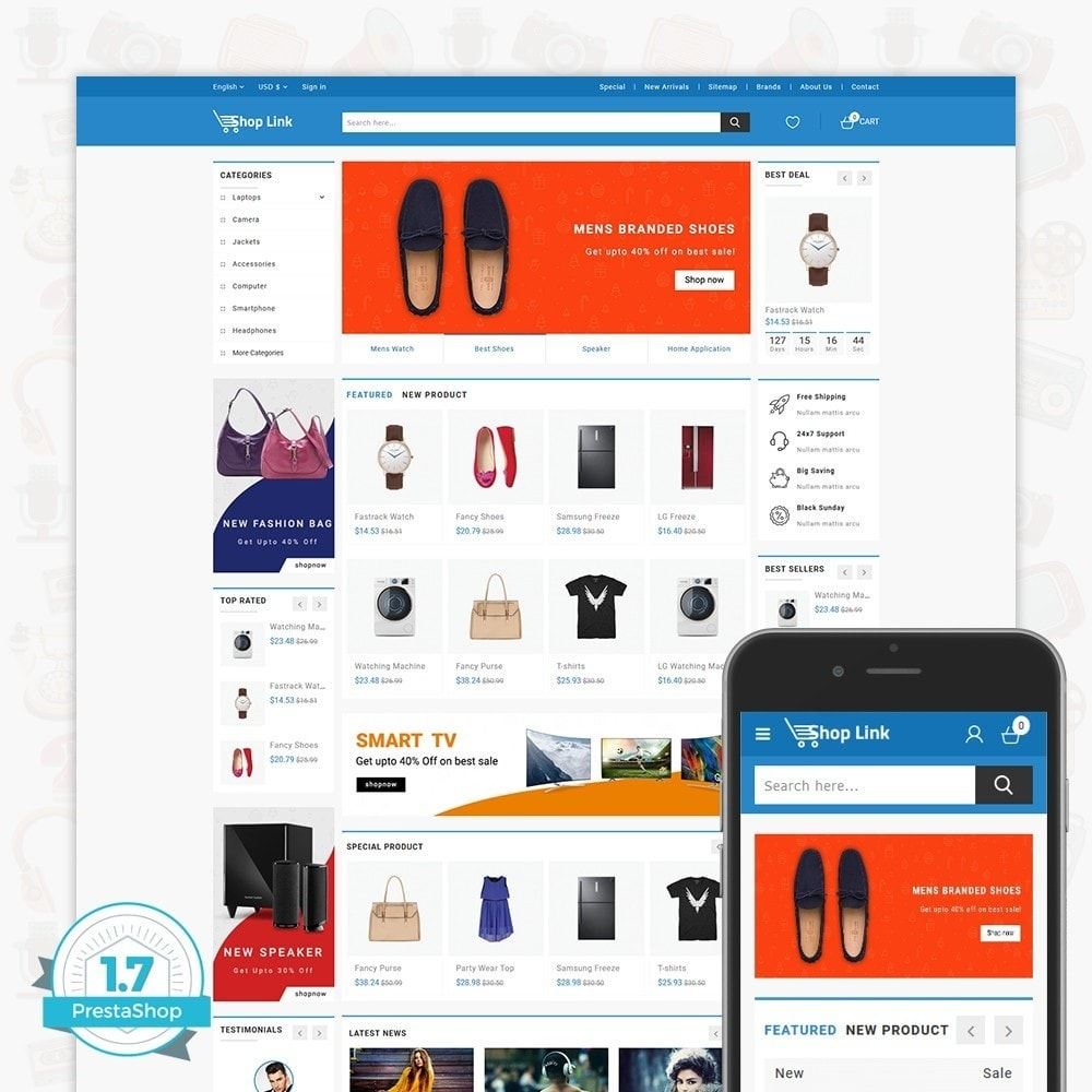 theme - Eletrônicos & High Tech - ShopLink - The Electronics Store - 1