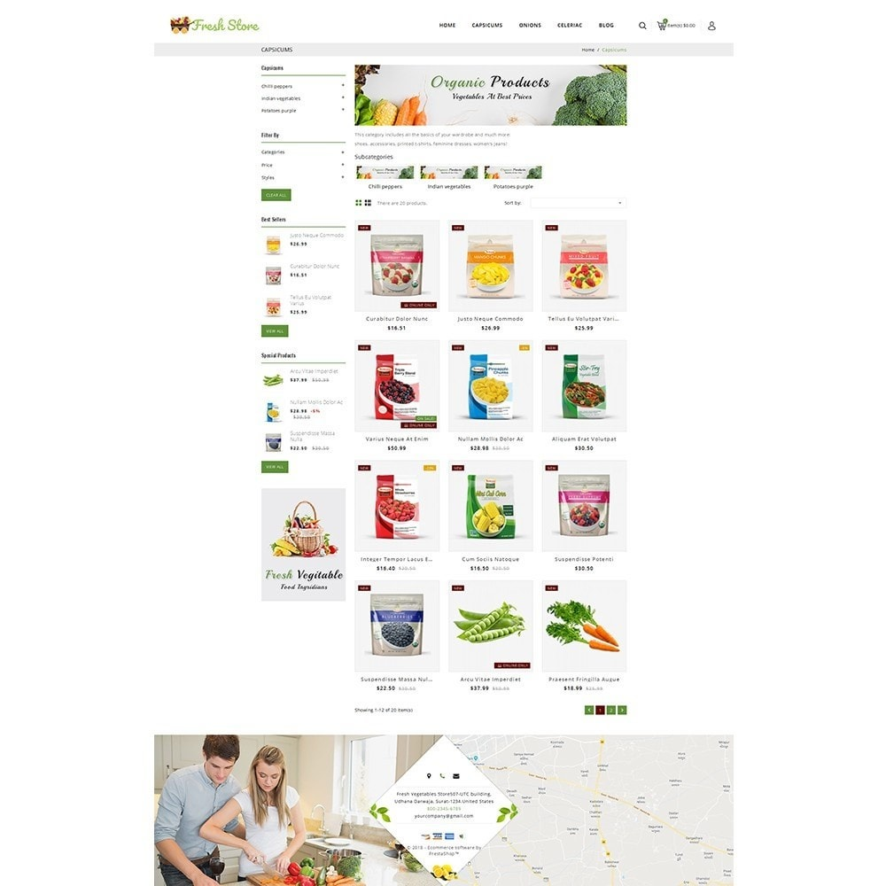 theme - Alimentos & Restaurantes - Fresh Vegetables Store - 3