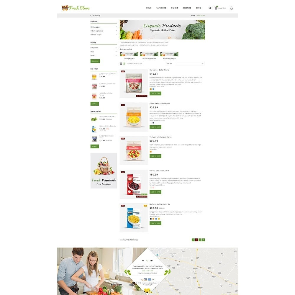 theme - Lebensmittel & Restaurants - Fresh Vegetables Store - 4