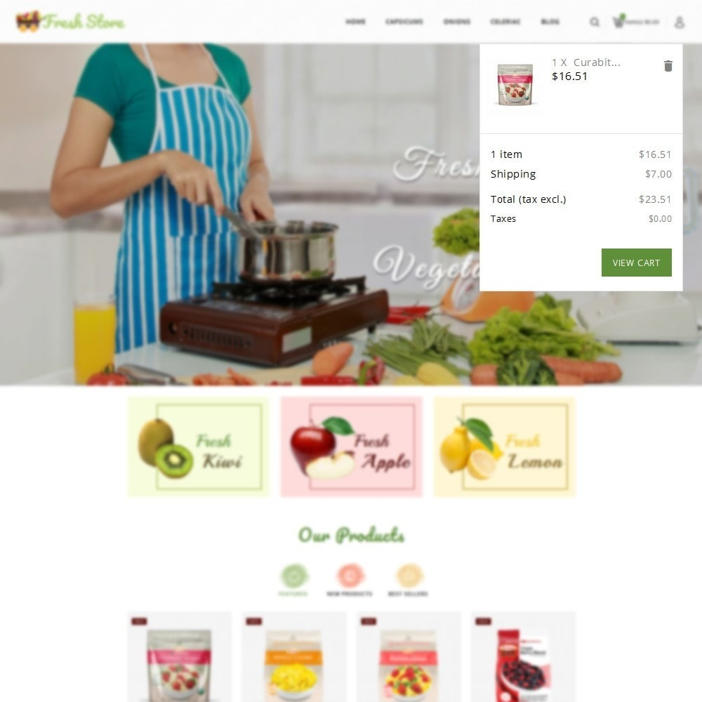 theme - Lebensmittel & Restaurants - Fresh Vegetables Store - 7