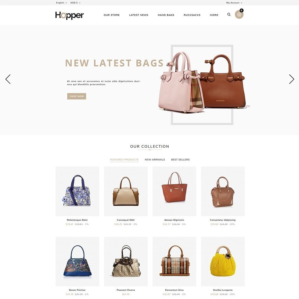 theme - Mode & Chaussures - Hopper Bag Store - 2