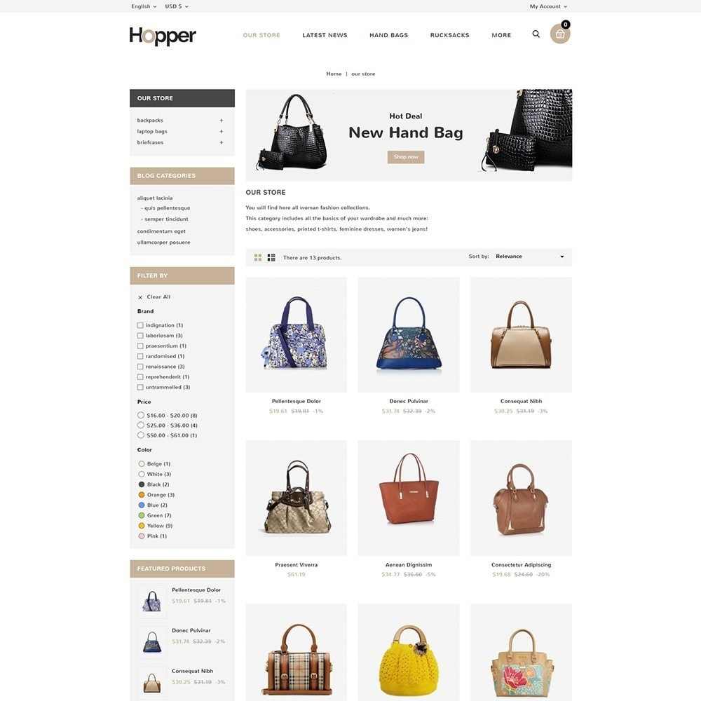 theme - Mode & Chaussures - Hopper Bag Store - 4