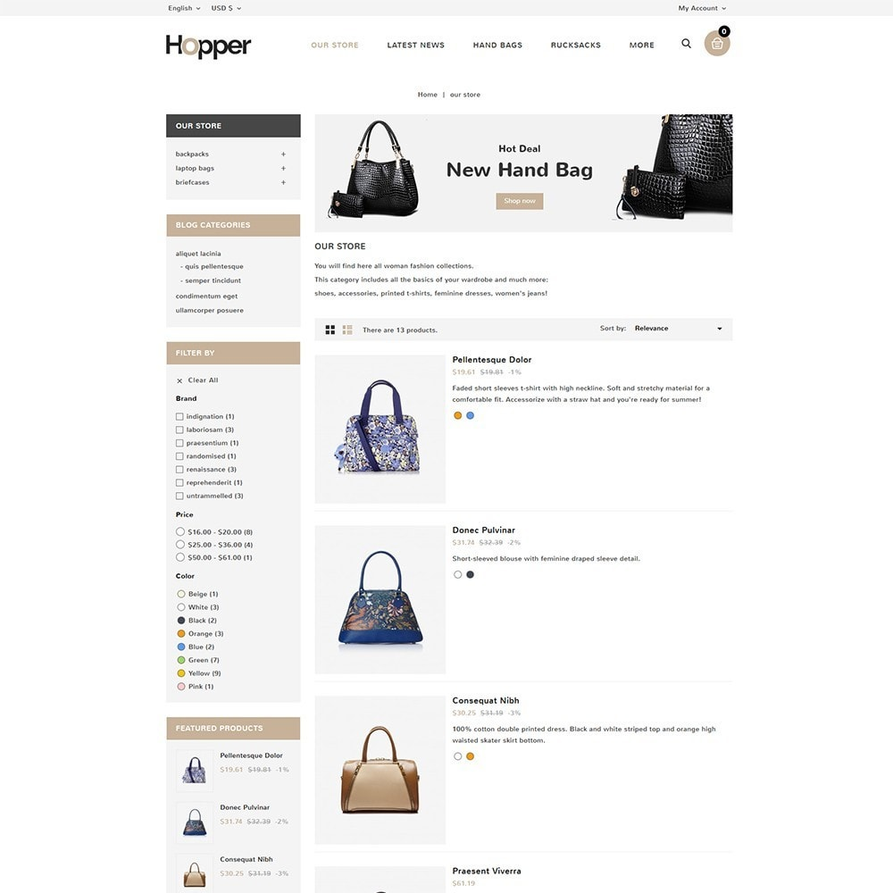 theme - Mode & Chaussures - Hopper Bag Store - 5