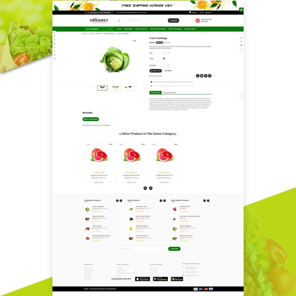 theme - Продовольствие и рестораны - Organsy – Grocery/Food/Gourmet/Drinks Super Store - 4