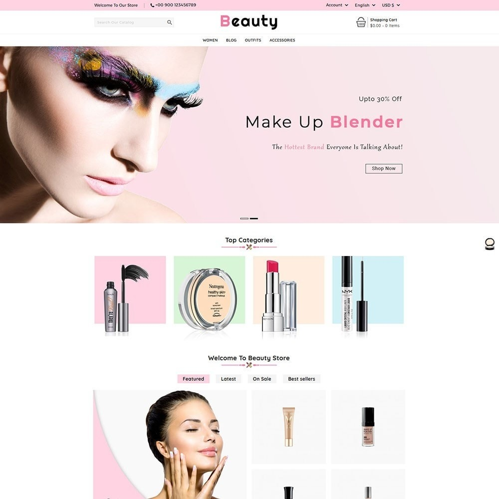 theme - Salud y Belleza - Beauty Cosmetic Shop - 2