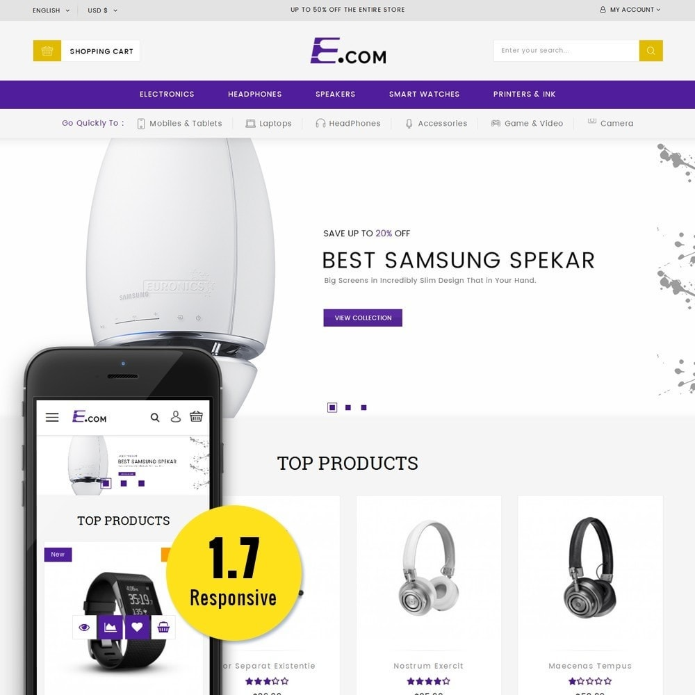 theme - Elektronica & High Tech - E-com Electronics Store - 1