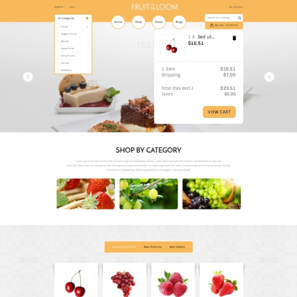 theme - Food & Restaurant - Fruits Store - 8