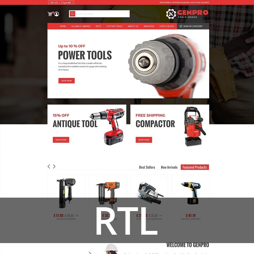 theme - Elettronica & High Tech - Genpro Tool House - 3