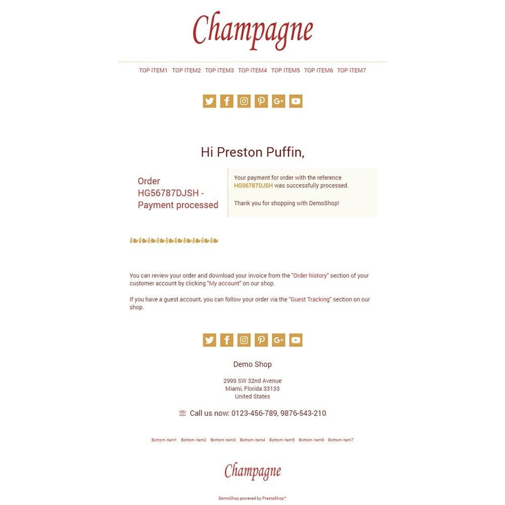 email - Template di e-mail PrestaShop - Champagne - Email templates - 3