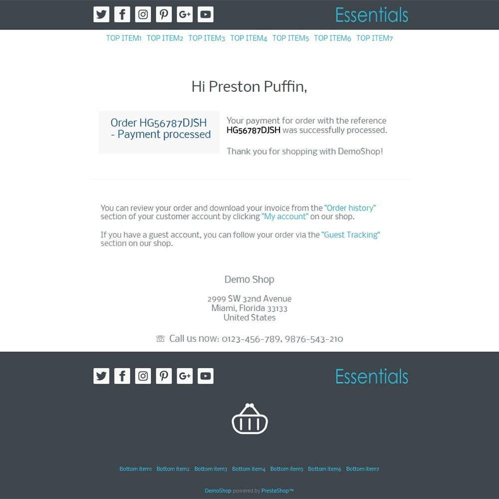 email - E-mailtemplates van PrestaShop - Essentials - Email templates - 3