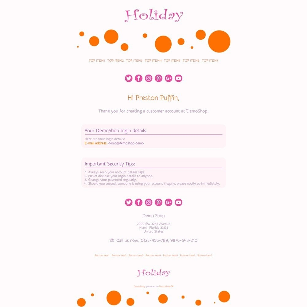 email - Template di e-mail PrestaShop - Holiday - Email templates - 2