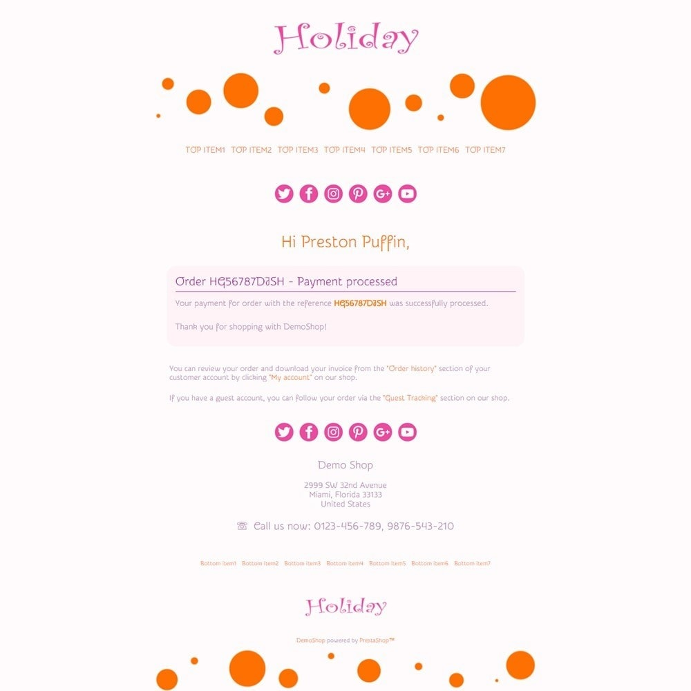 email - Templates d'e-mails PrestaShop - Holiday - Email templates - 3