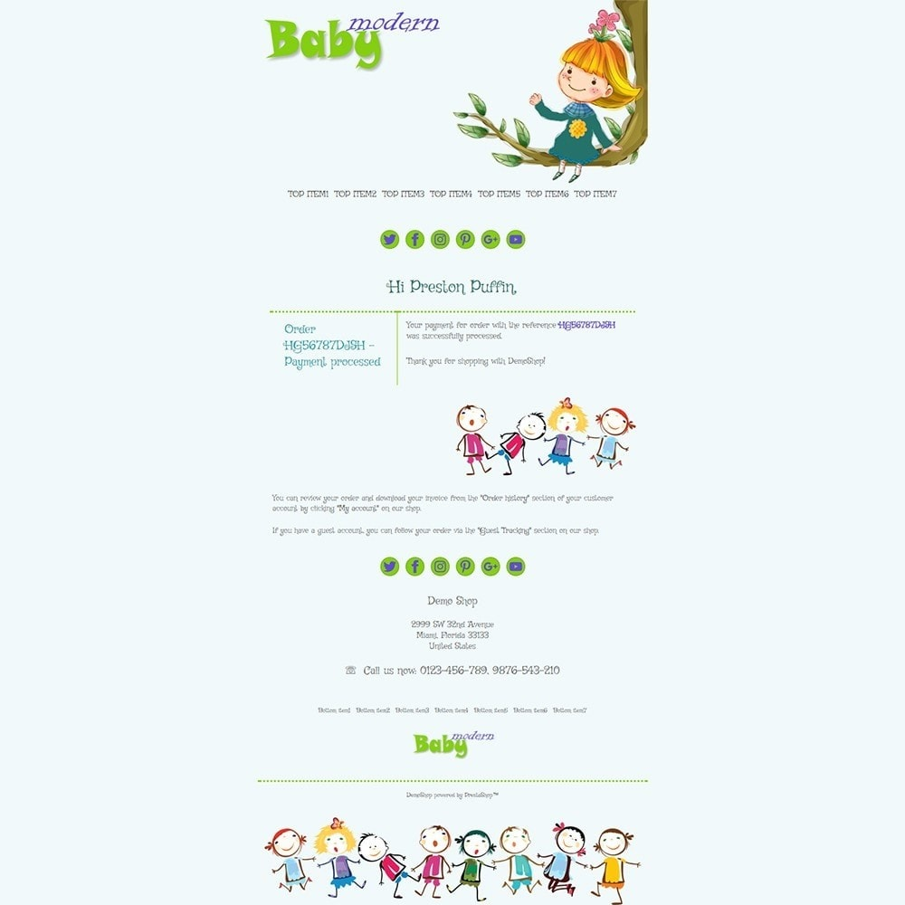 email - PrestaShop email templates - Modern Baby - Email templates - 3
