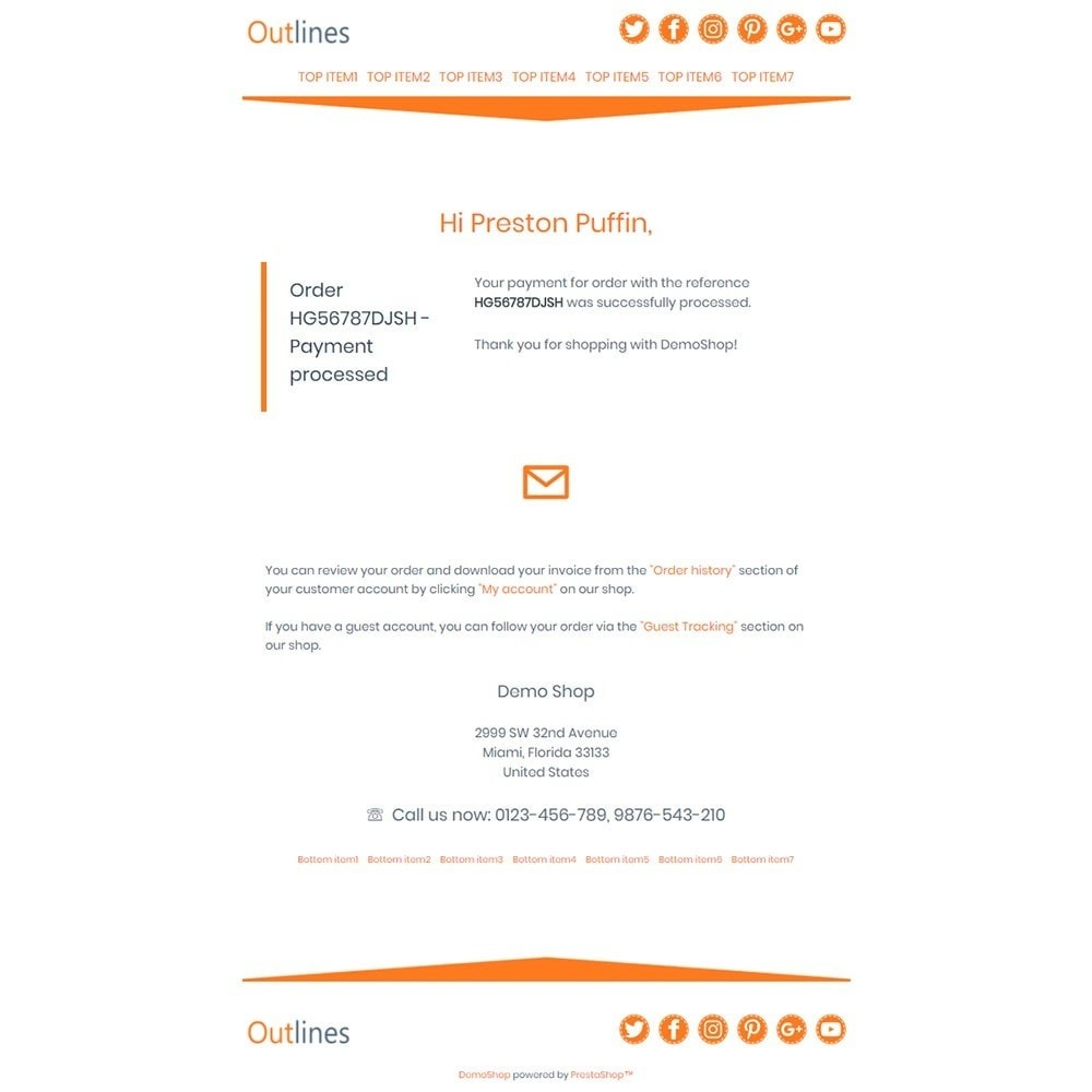 email - Template di e-mail PrestaShop - Outlines - Email templates - 3