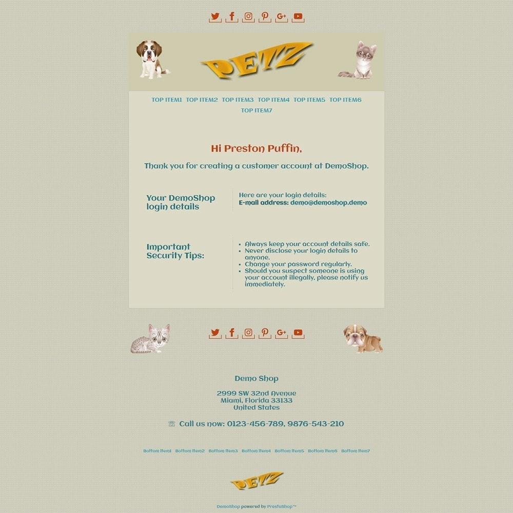 email - Template di e-mail PrestaShop - Petz - Email templates - 2