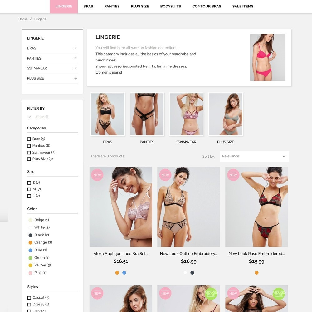 theme - Lingerie & Volwassenen - Underwear Market - 5