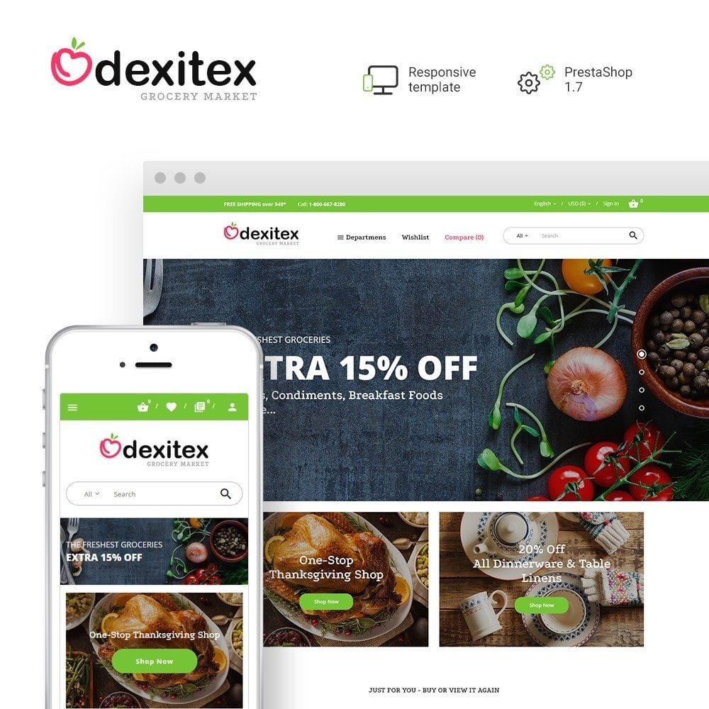 theme - Food & Restaurant - Dexitex - Grocery Market - 1