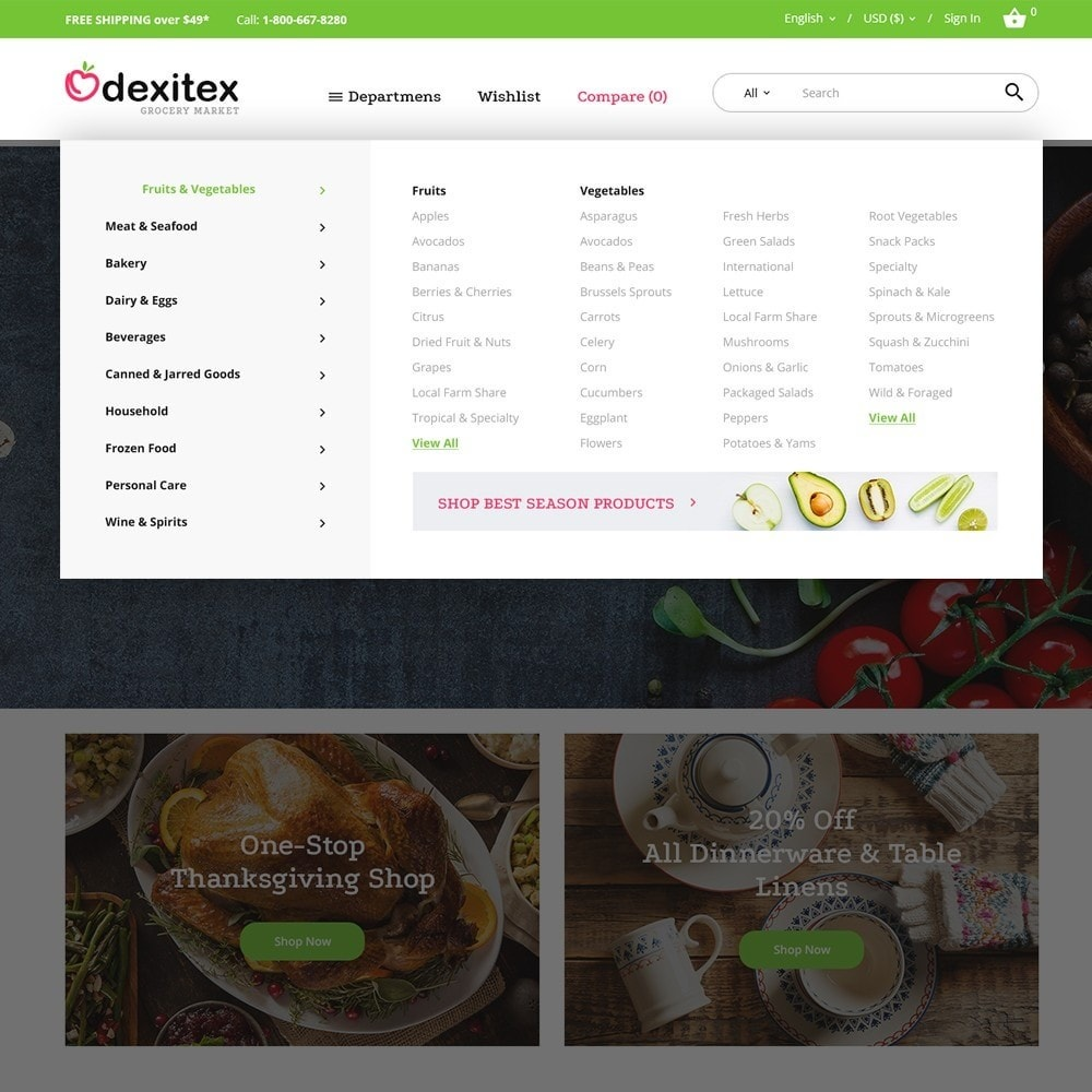 theme - Food & Restaurant - Dexitex - Grocery Market - 3