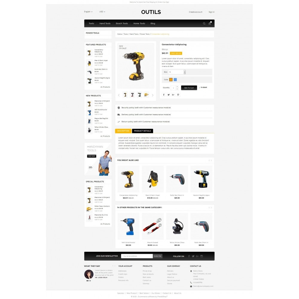 theme - Electrónica e High Tech - Outils - Tools Shop - 5