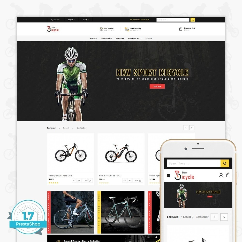 theme - Sport, Loisirs & Voyage - Bicycle Sports Store - 1
