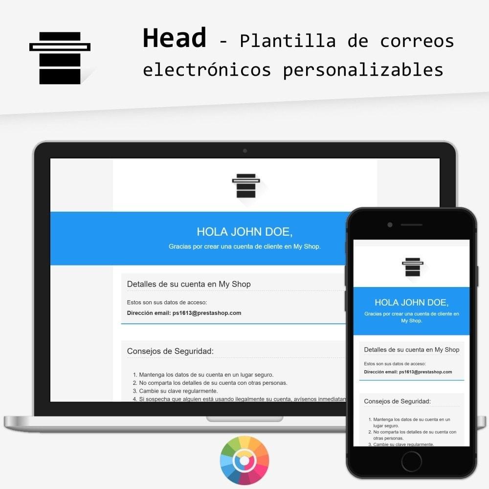 email - Plantillas de correos electrónicos PrestaShop - Head – Plantilla de correos electrónicos - 1