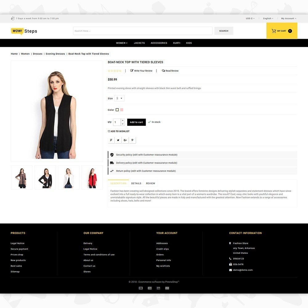 Steps clothing store online