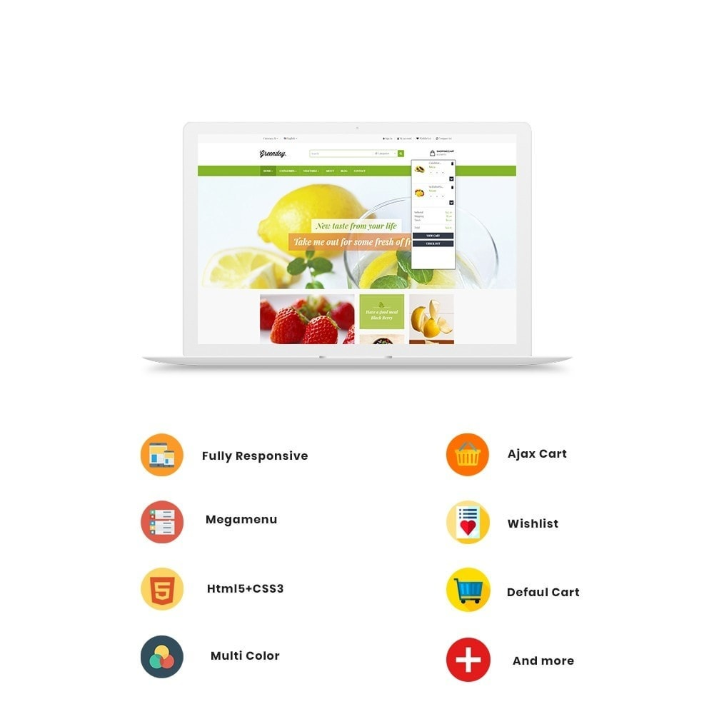 theme - Продовольствие и рестораны - Leo Green  Fresh Food store - 2