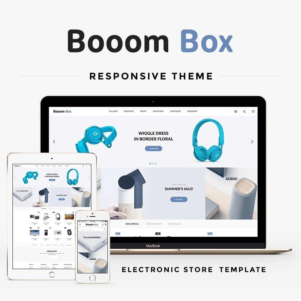 theme - Electronics & Computers - Booom box - High-tech Shop - 1