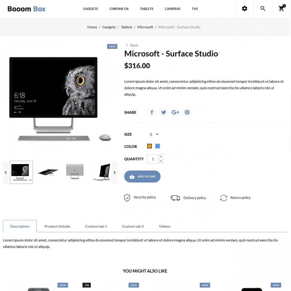 theme - Электроника и компьютеры - Booom box - High-tech Shop - 6