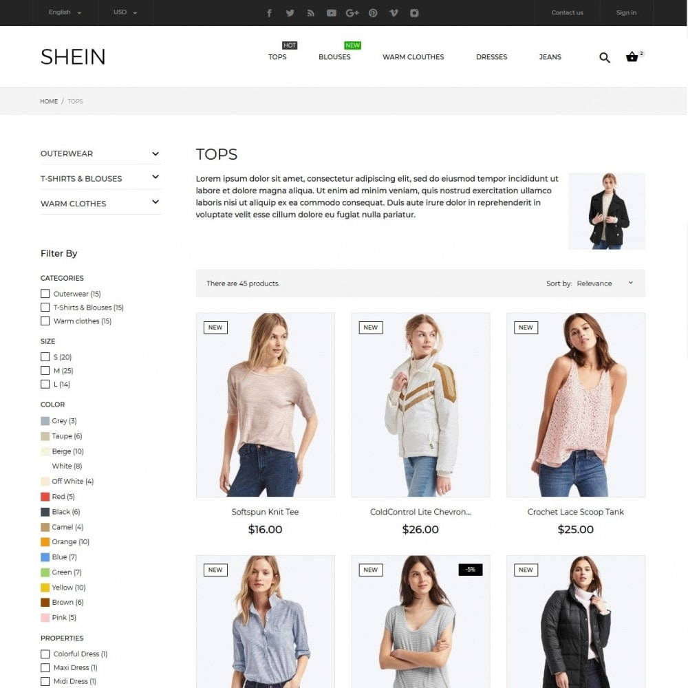 theme - Moda & Obuwie - Shein Fashion Store - 7