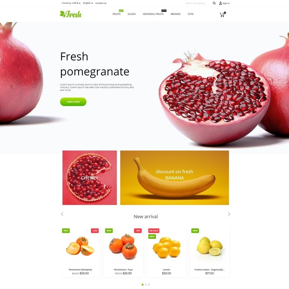 theme - Alimentos & Restaurantes - Fresh - 2