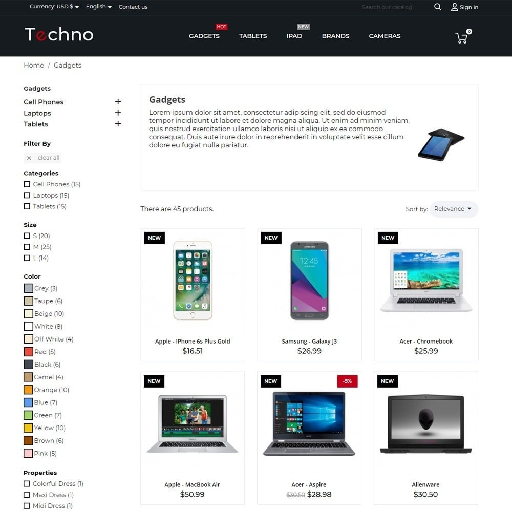 theme - Electronics & Computers - Techno - High-tech Shop - 7