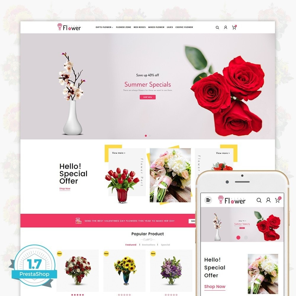 theme - Gifts, Flowers & Celebrations - Flower Store - 1