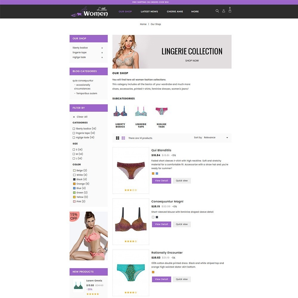 theme - Lingerie & Adultos - Little Women Lingerie Store - 5