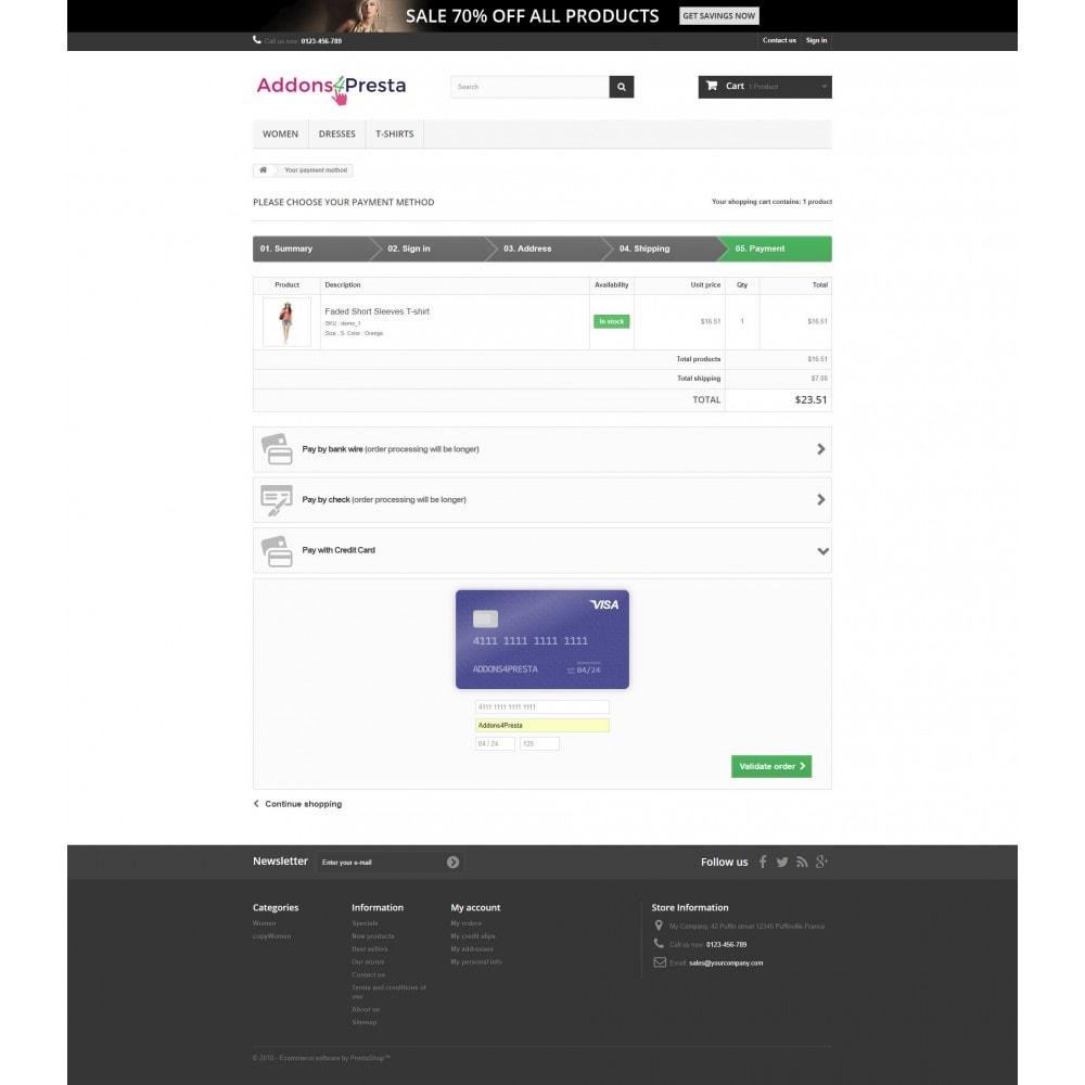 module - Paiement par Carte ou Wallet - Elavon Converge Virtual Payments - 12