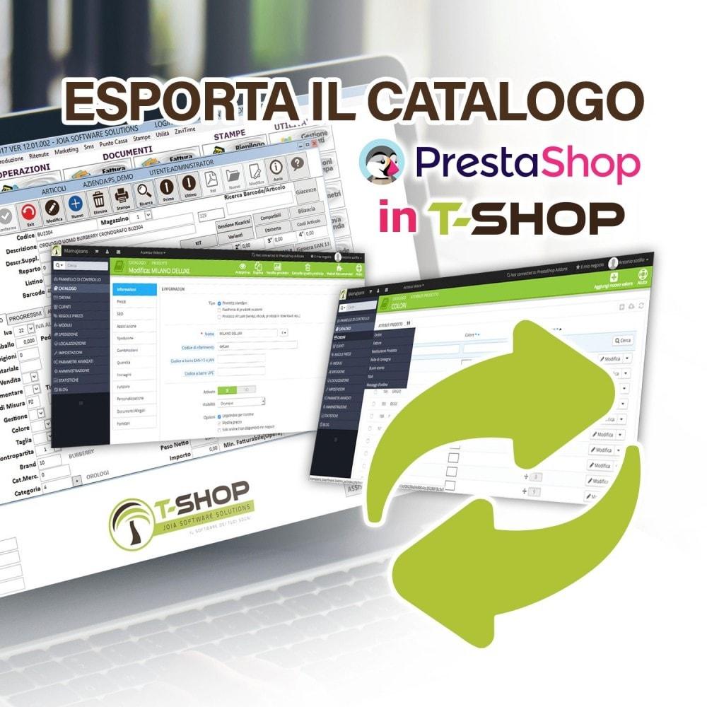 module - Data Migration & Backup - Esporta tutto il catalogo da PrestaShop a T-Shop - 1
