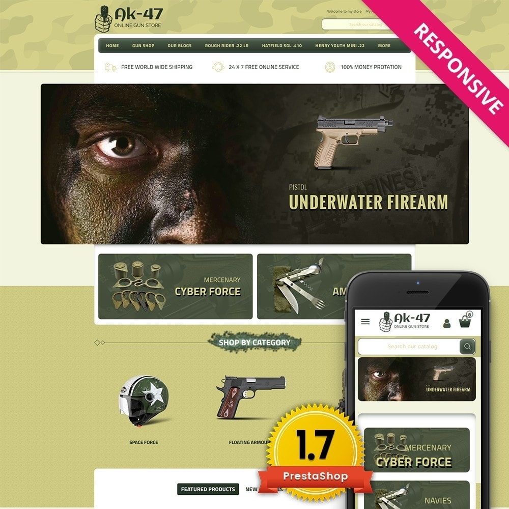 theme - Авто и Мото - AK47 Gun & Tools Store - 1