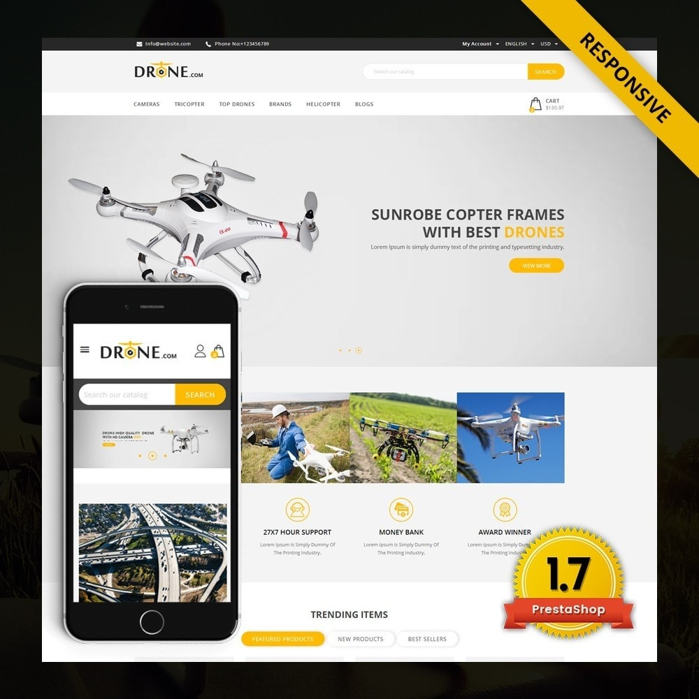 theme - Elettronica & High Tech - Drone - Online Store - 1