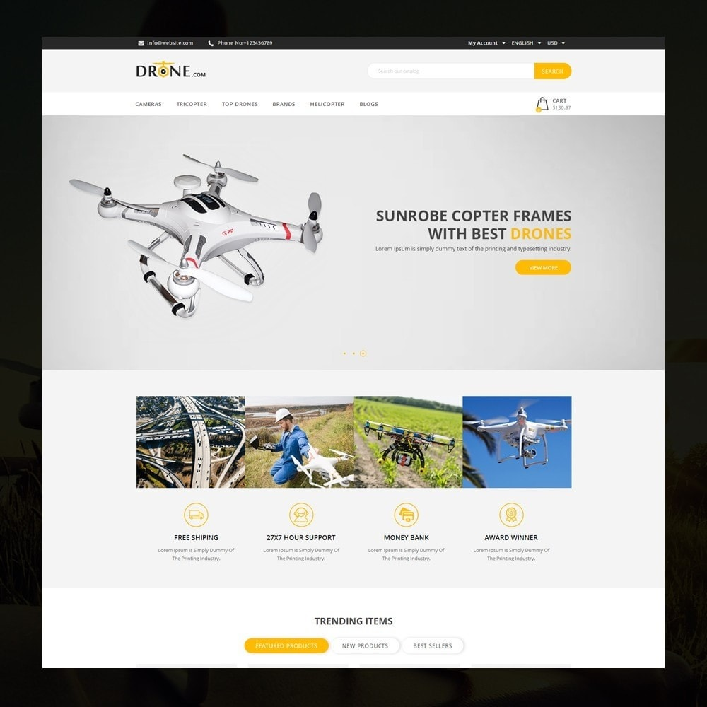 theme - Electronics & Computers - Drone - Online Store - 2