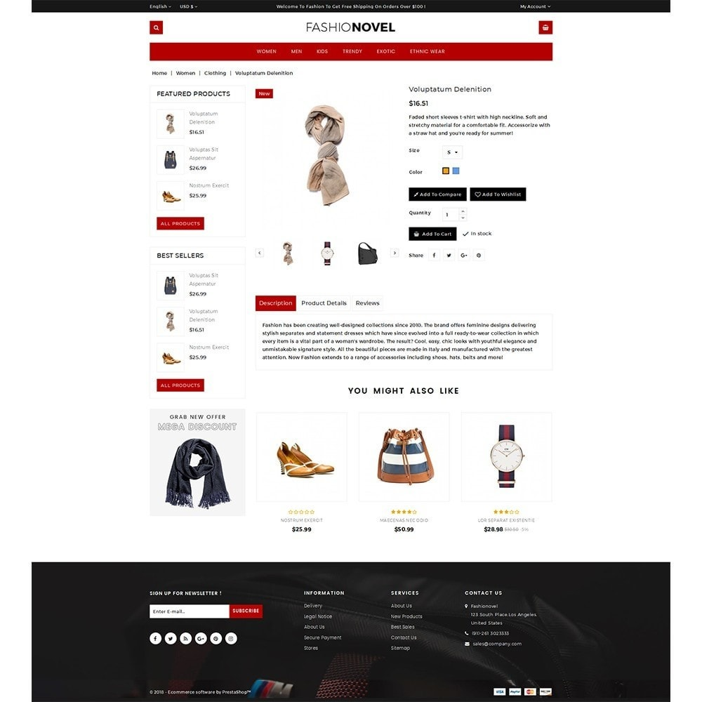 theme - Mode & Chaussures - Fashionovel Store - 5
