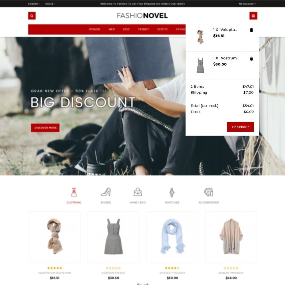 theme - Mode & Chaussures - Fashionovel Store - 8