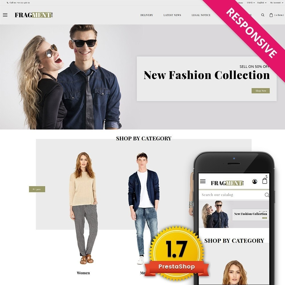 theme - Moda & Calzature - Fragment Fashion Shop - 1