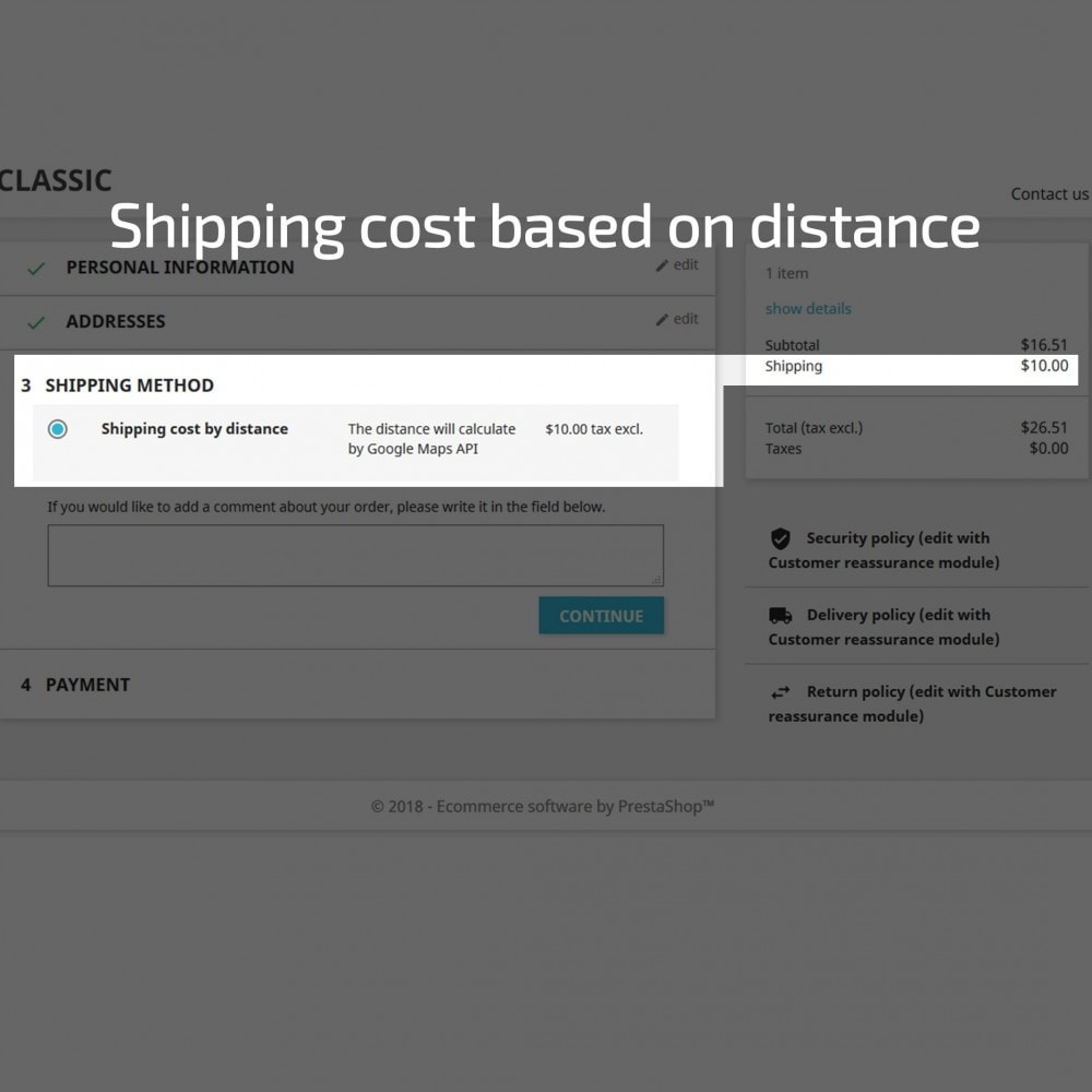 module - Стоимость доставки - Shipping Costs Based on Distance - 6