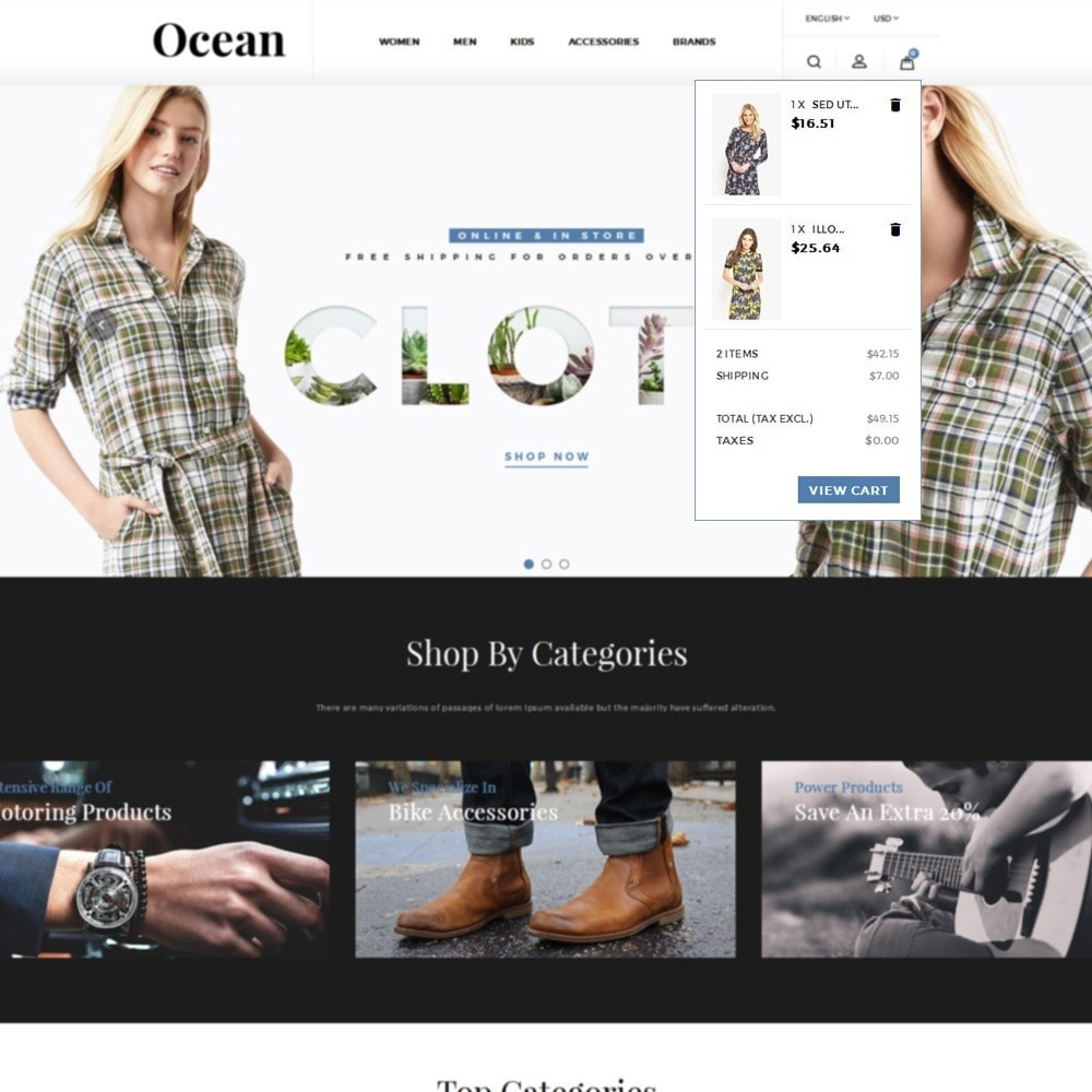 theme - Fashion & Shoes - Ocean Fashion Store - 8