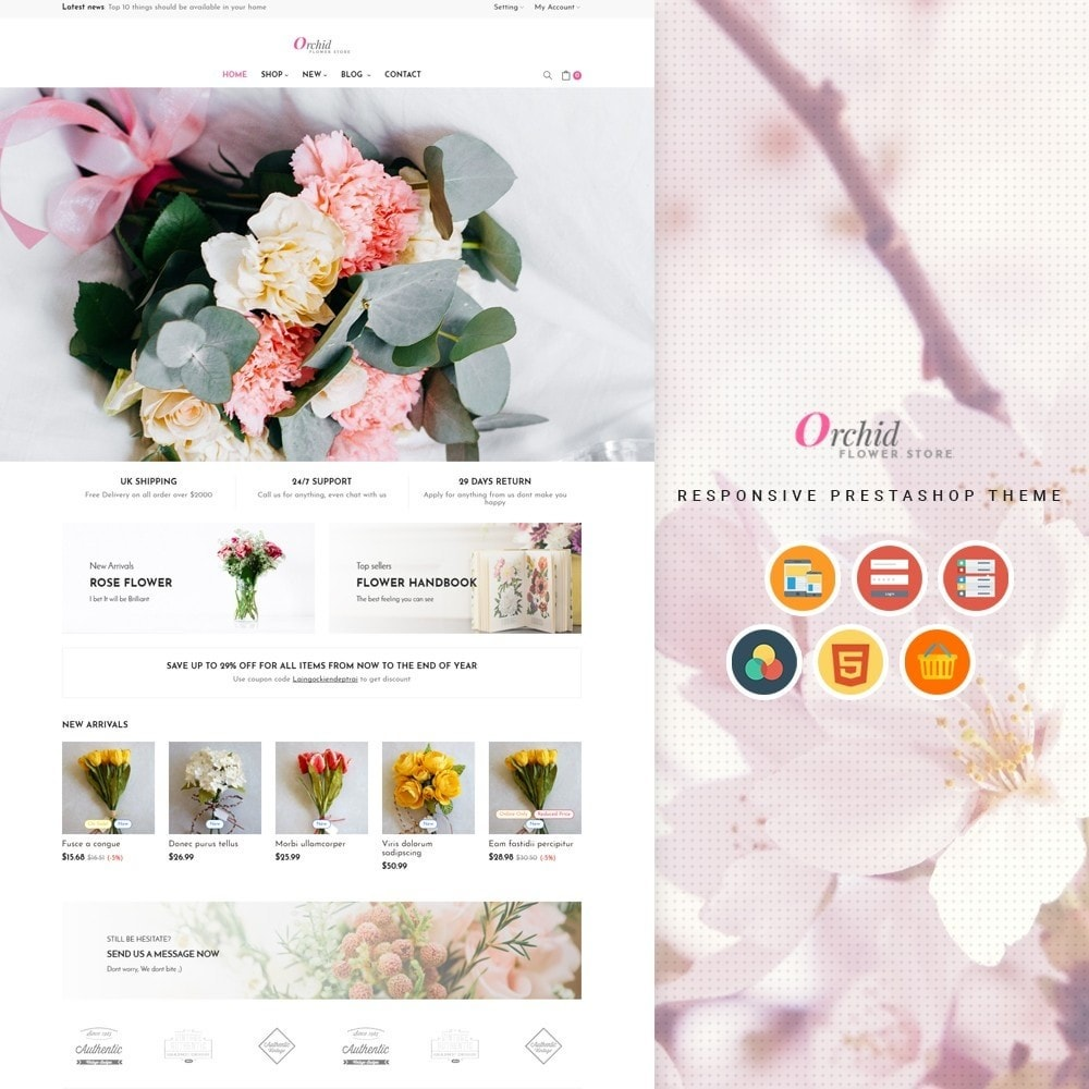 theme - Gifts, Flowers & Celebrations - Leo Orchid - 1